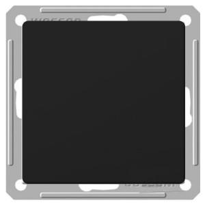 Одноклавишный выключатель 2-полюсный 10А механизм SE W59, черный бархат