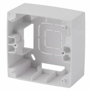 Коробка накладного монтажа Эра 12 1 пост, белый 12-6101-01
