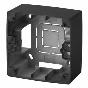 Коробка накладного монтажа Эра 12 1 пост, антрацит 12-6101-05