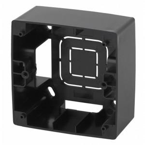 Коробка накладного монтажа Эра 12 1 пост, чёрный 12-6101-06