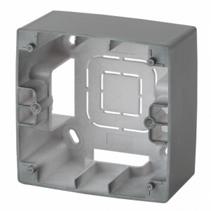 Коробка накладного монтажа Эра 12 1 пост, графит 12-6101-12