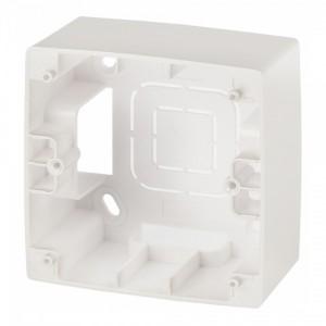 Коробка накладного монтажа Эра 12 1 пост, перламутр 12-6101-15