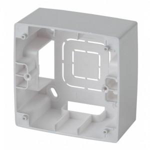 Коробка накладного монтажа Эра 12 1 пост, алюминий 12-6101-03