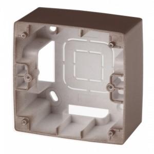 Коробка накладного монтажа Эра 12 1 пост, бронза 12-6101-13