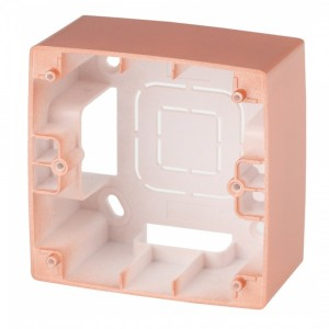 Коробка накладного монтажа Эра 12 1 пост, медь 12-6101-14