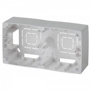 Коробка накладного монтажа Эра 12 2 поста, алюминий 12-6102-03