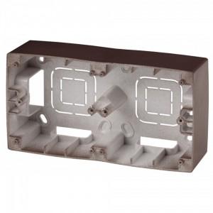 Коробка накладного монтажа Эра 12 2 поста, бронза 12-6102-13