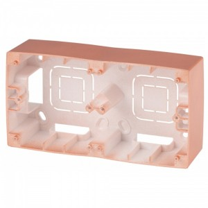 Коробка накладного монтажа Эра 12 2 поста, медь 12-6102-14
