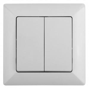 Выключатель двойной 10А-250В Intro Solo, белый 4-104-01