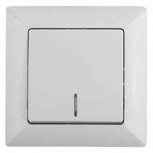 Выключатель с подсветкой 10А-250В Intro Solo, белый 4-102-01