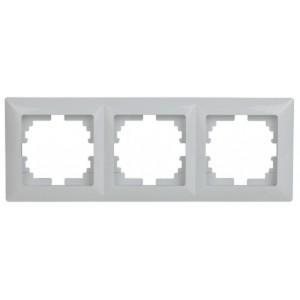 Рамка на 3 поста  Intro Solo, белый 4-503-01