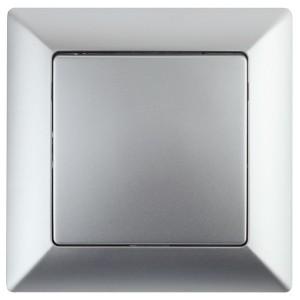 Выключатель 10А-250В Intro Solo, алюминий 4-101-03