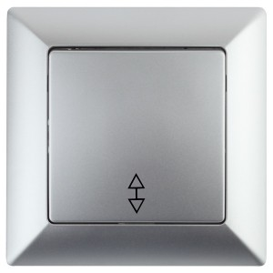 Переключатель 10А-250В Intro Solo, алюминий 4-103-03