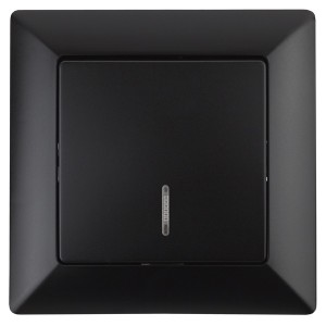 Выключатель с подсветкой 10А-250В Intro Solo, антрацит 4-102-05