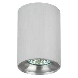 Светильник накладной ЭРА OL1 GU10 SL/CH GU10 D80x100мм серебро/хром 5056306016622