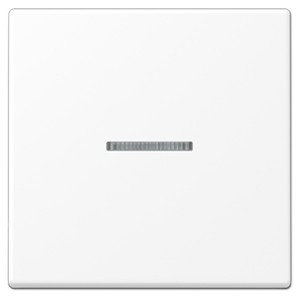 Клавиша 1-ая для одноклавишного выключателя с подсветкой Jung A Белоснежный матовый