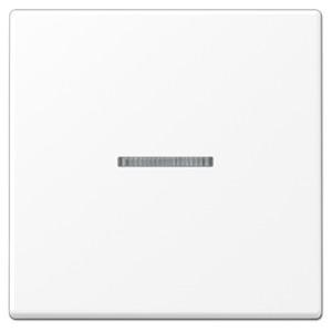 Клавиша 1-ая с подсветкой для одноклавишного выключателя или кнопки Jung LS Белоснежный матовый