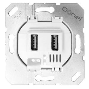 Donel USB зарядное устройство, 3.1A тип A, белый
