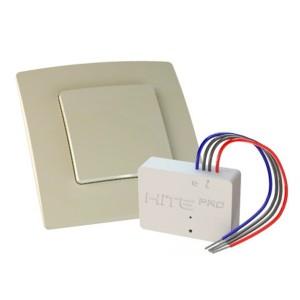 Комплект для беспроводного управления HiTE PRO радиовыключатель+реле 1 канал 1000Вт бежевый 062977