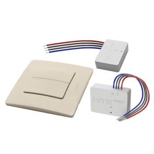 Комплект для беспроводного управления HiTE PRO радиовыключатель+реле 2 канала по 1000Вт бежев 062991