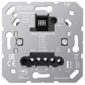 Двухклавишный LED диммер «универсальный» Jung 20-210Вт