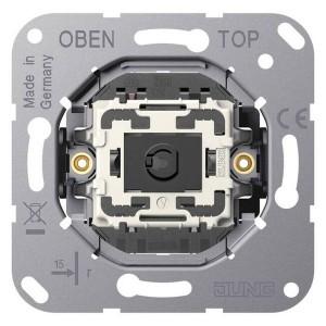 Механизм одноклавишный кнопочного выключателя крепление винтами серии LS1912 Jung, без лапок
