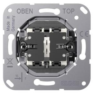Механизм двухклавишного кнопочного выключателя крепление винтами серии LS1912 Jung, без лапок