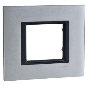 Рамка Unica Class 1 пост серебристый алюминий