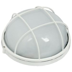 Светильник влагозащищенный НПП1102 100W E27 IP54 круглый с решеткой белый ИЭК