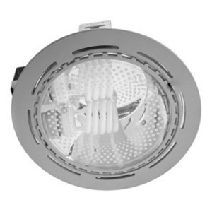 Светильник Downlight FL-2023 2x26W G24d Grey круглый серый d223 без ПРА