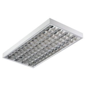 Накладной светильник TL436 EL 4х36 Вт ЭПРА, 1233х620, зеркальный классический растровый