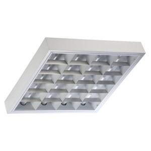 Накладной светильник TL424 S 4х24 Вт ЭПРА, 593х593, параболический зеркальный растровый