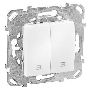 Выключатель  для управления рольставнями SE Unica, белый