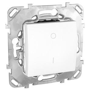 Выключатель  двухполюсный 16A SE Unica, белый