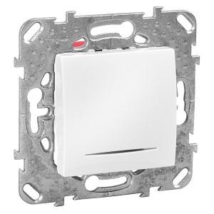 Выключатель  с подсветкой SE Unica, белый