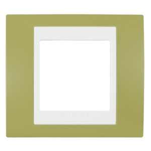 Рамка Unica хамелеон 1 пост зеленое яблоко/белая