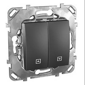 Выключатель  кнопочный для жалюзи SE Unica Top, графит