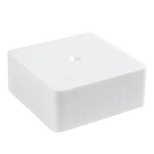 Коробка распаячная 75х75х30 открытой проводки Промрукав белая [уп. 90шт]