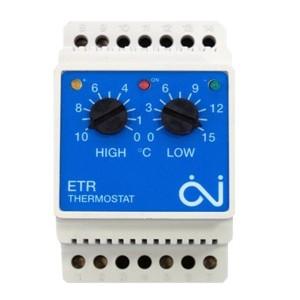 Терморегулятор OJ Electronics ETR/F-1447A на DIN-рейку с датчиком ETF-744/99