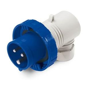 Вилка кабельная угловая DKC Quadro IP67 16А 2P+E 230В