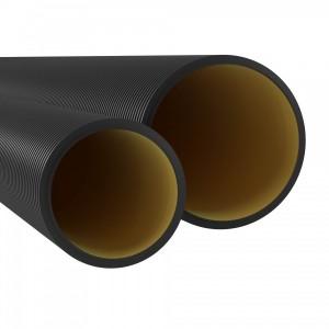 Труба жесткая двустенная для кабельной канализации DKC, (10кПа) д125мм, цвет черный [уп.6м]