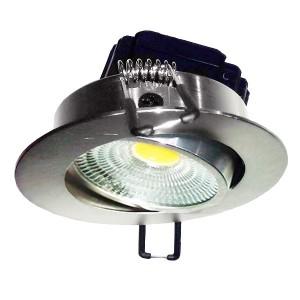 Встраиваемый светильник FL-LED Consta B 7W Aluminium 2700K 560lm хром круглый поворотный