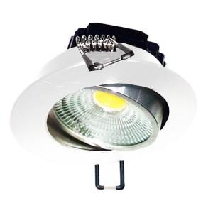 Встраиваемый светильник FL-LED Consta B 7W White 2700K 560lm белый круглый поворотный