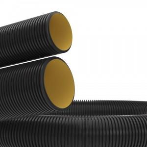 Труба гибкая двустенная для кабельной канализации д.110мм, цвет черный, без протяжки [бухта 100м]
