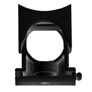 Держатель с крышкой DN 36-48 мм, полиамид, цвет чёрный