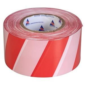 Лента оградительная ЛО-100 красно-белая 75мм 50мкм (100м)