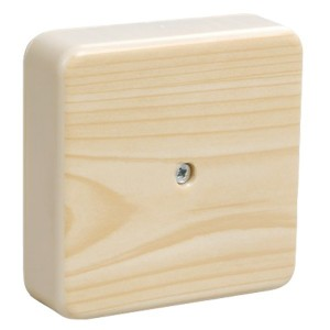 Коробка КМ41212-04 распаячная для о/п 75х75х20мм сосна (с контактной группой) [уп. 100шт] ИЭК