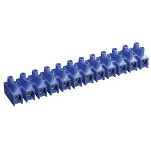 Зажим винтовой ЗВИ-10 н/г 2,5-6мм2 12пар ИЭК синие (не поддерживающий горения)