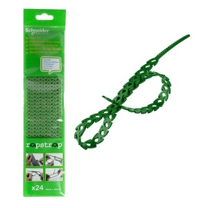 Многоразовая кабельная стяжка Schneider Electric RAPSTRAP 10х300мм зеленая (упак.24шт)