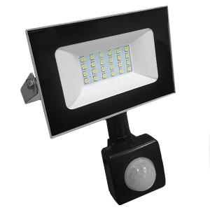 Прожектор светодиодный с датчиком FL-LED Light-PAD SENSOR 20W 4200К 1700Lm 220В IP65 140x169x28мм